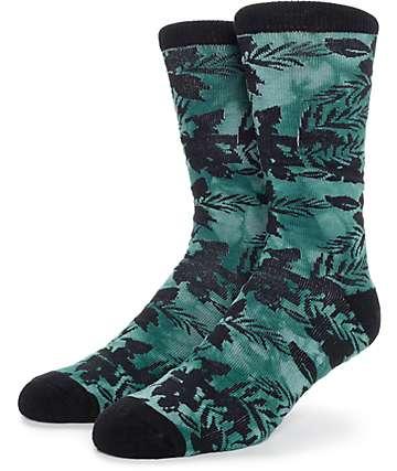 Empyre Herbaceous Tie Dye Floral Crew Socks