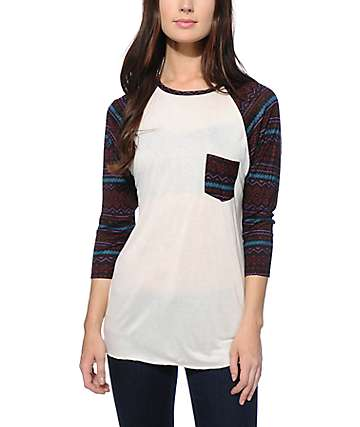 Empyre Indira Multi Tribal Baseball Tee