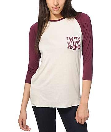 Empyre Indira camiseta de béisbol ikat rayada