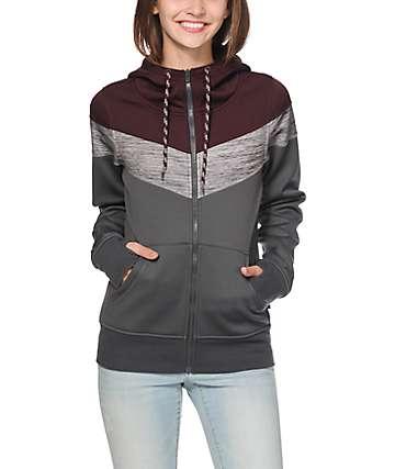 Empyre Insignia Blackberry Colorblock Tech Fleece Jacket