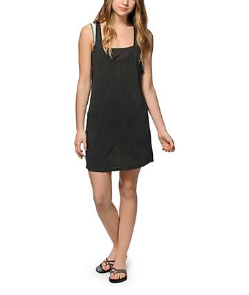 Empyre Ivory Charcoal Macrame Back Dress