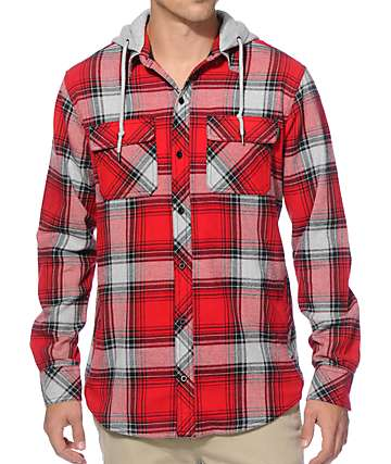 Empyre Jack Hooded Flannel Shirt