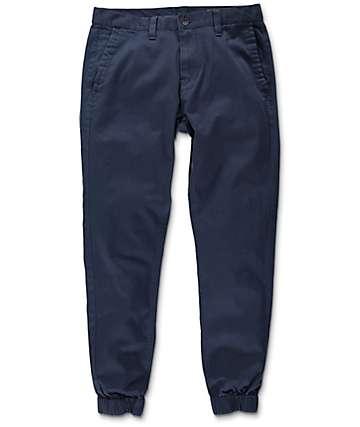Empyre Jag Navy Twill Jogger Pants
