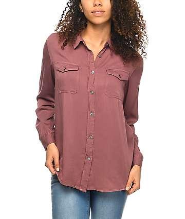 Empyre Jaimie camisa abotonada en color malva