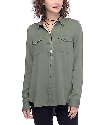 Empyre Jaimie camisa en verde olivo