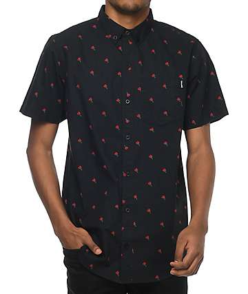 Empyre James Rose Black Short Sleeve Woven Shirt