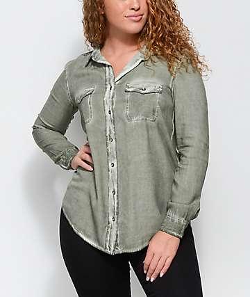 Empyre Jamie camisa en color verde olivo