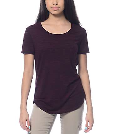 Empyre Jemma Slit Hacci Blackberry T-Shirt