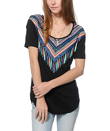 Empyre Jemma Tribal Collar T-Shirt