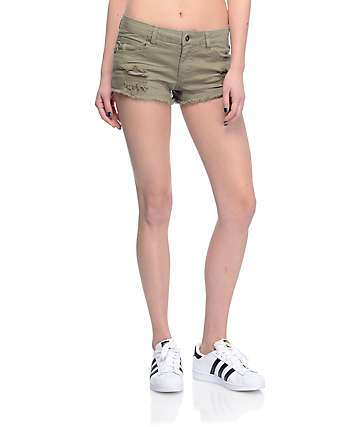 Empyre Jenna shorts rotos en color olivo