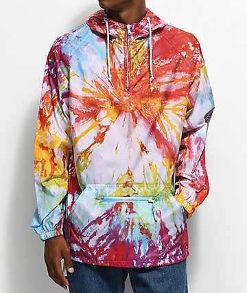 Empyre Jerry Swirl Multi Tie Dye Anorak Jacket