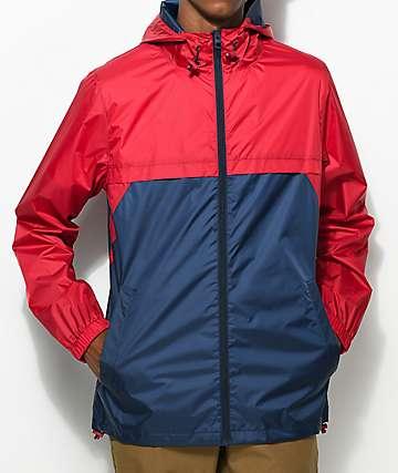 Empyre Jet chaqueta anorak en rojo y azul marino
