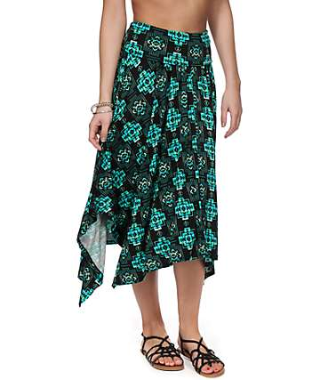 Empyre Joelle Mint & Black Tribal Skirt