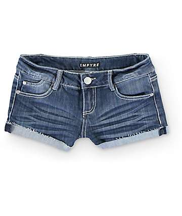Empyre Jorie Medium Wash Cuffed Denim Shorts