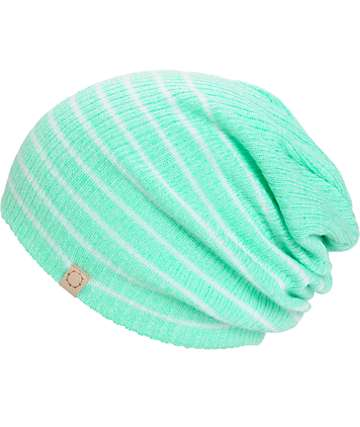 Empyre Juliet Mint Stripe Beanie