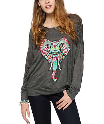 Empyre Kaden Tribal Elephant Dolman Top