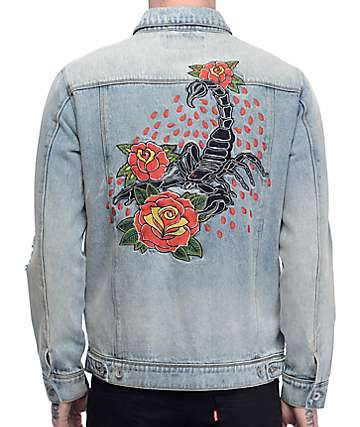 Empyre Karl Embroidered Denim Jacket