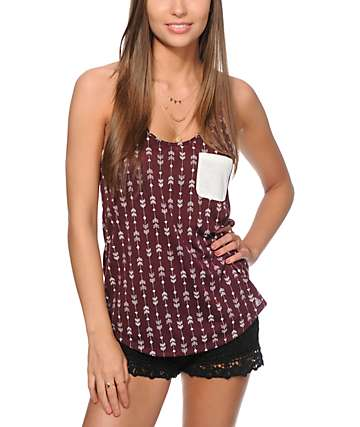 Empyre Kasem Arrow Print Tank Top