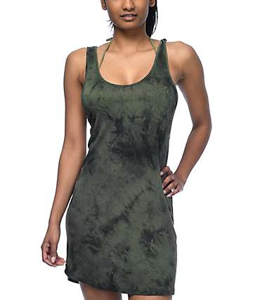 Empyre Katina Olive Tie Dye Swim Cover-Up