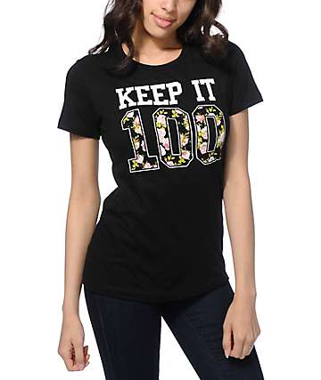 Empyre Keep It 100 Floral T-Shirt