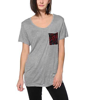 Empyre Kessler Blackberry Floral Pocket T-Shirt