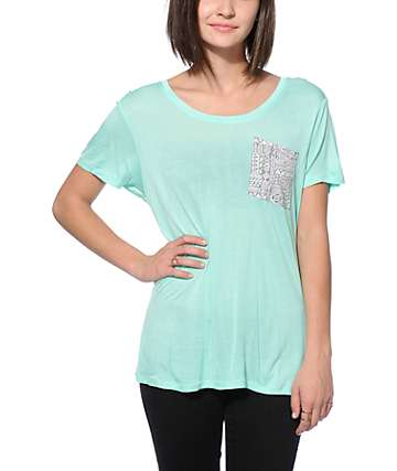 Empyre Kessler Mint Tribal Pocket T-Shirt