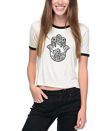Empyre Knoxville Hamsa White Ringer T-Shirt