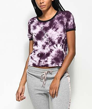 Empyre Knoxville Slay camiseta morada con efecto tie dye