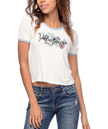 Empyre Knoxville White & Baby Blue Ringer T-Shirt