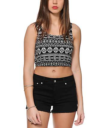 Empyre Koa Tribal Crop Tank Top