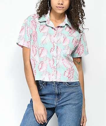 Empyre Lanikai Palm Crop Short Sleeve Button Up Shirt