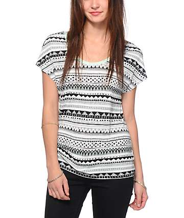 Empyre Lara Tribal Cage Back Dolman Top