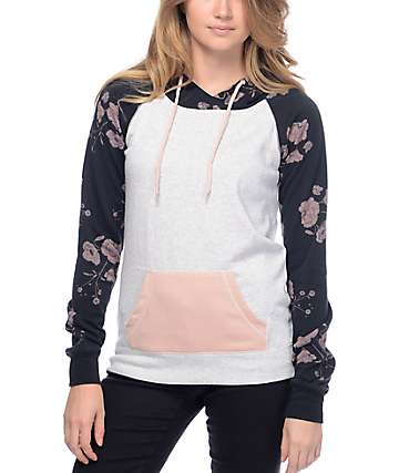 Empyre Larissa Black Floral Pullover Hoodie