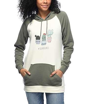Empyre Larissa Cactus Squad Olive & Cream Hoodie