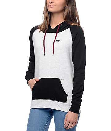 Empyre Larissa Elephant White & Black Pullover Hoodie