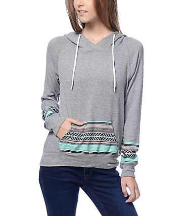 Empyre Larissa Grey & Tribal Pocket Hoodie