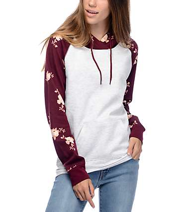 Empyre Larissa Red Floral Hoodie