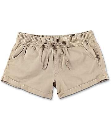 Empyre Laurel Khaki Twill Rolled Shorts