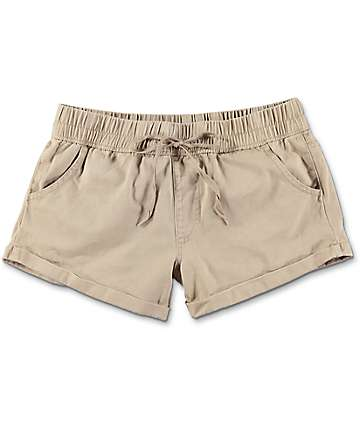 Empyre Laurel shorts asargados arrollados en color caqui