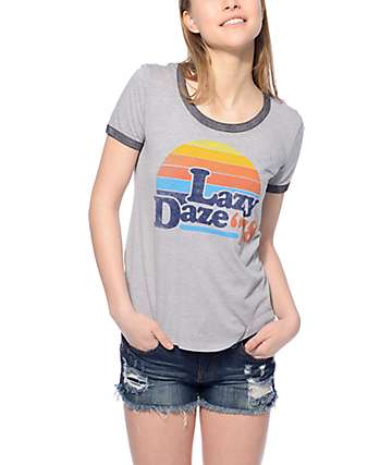 Empyre Lazy Daze Grey Ringer T-Shirt
