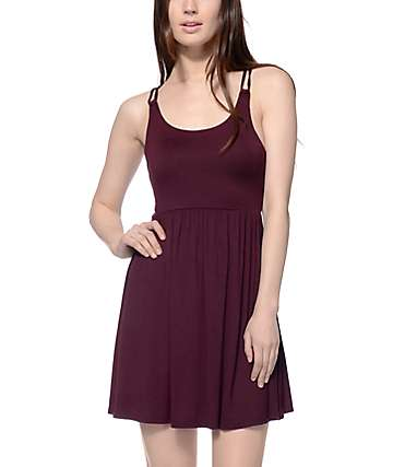 Empyre Leah Blackberry Strap Back Dress