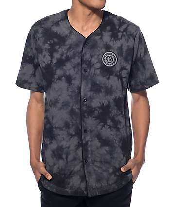 Empyre Leaving Town Black Tie Dye Baseball Jersey