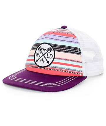 Empyre Lena Purple Multi Trucker Hat