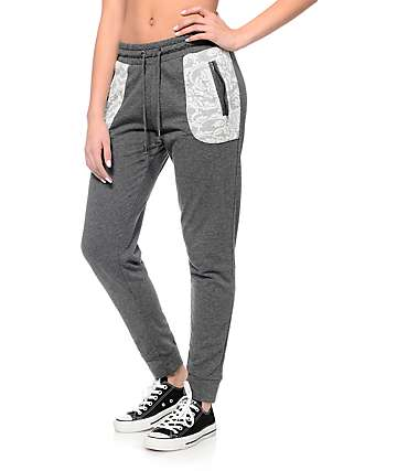Empyre Leo Gray Textured Tribal Pocket Jogger
