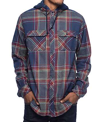 Empyre Leonard Hooded Flannel Shirt