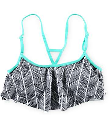 Empyre Line Vibe Flounce Bikini Top