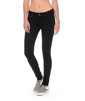 Empyre Logan Jet Black Skinny Jeggings