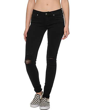 Empyre Logan Nouveau Black Destructed Jeggings