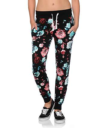 Empyre Lorimer Exploded Floral Jogger Pants