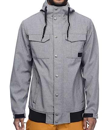 Empyre Luger M65 Softshell 10K chaqueta de snowboard en color carbón
